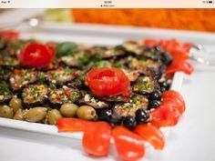 Gebratene Auberginen mit Chili und Knoblauch nach griechischer Art. Korotkov Catering & Partyservice in Heilbronn