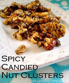spicy candied nut clusters