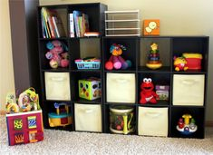 Good way to store all of John's crap. Storage cubes from Target