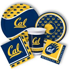 California Party Supplies, Cal Bears Party Supplies from www.DiscountPartySupplies.com