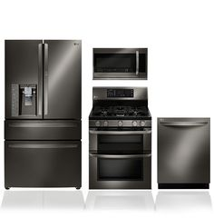 Finally stainless appliances that I can imagine in my traditional kitchen dreams-LG Black Stainless Steel Series: Black Stainless Steel Appliances