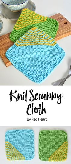 Knit Scrubby Cloth free knit pattern in Scrubby Smoothie and Scrubby yarn. These cute dishcloths pull double duty with the combination of original Scrubby and Scrubby Smoothie yarns. Your dishes and countertops will be clean in no time!