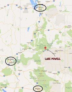 Map of Lake Powell Captains and Crews Tats Pinterest Lake