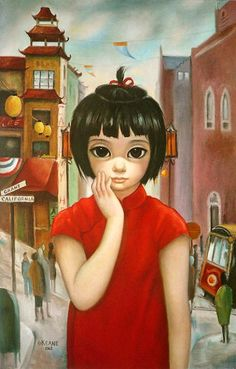 """""""Grant Avenue San Francisco"""" by Margaret Keane. Hung in our family room."""