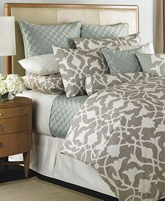 Barbara Barry Bedding, Poetical Collection - Bedding Collections - Bed & Bath - Macy's - with coral