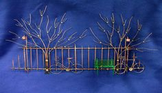 A Bike Ride In The Park Wall Sculpture by JimsCopperArt on Etsy, $289.00