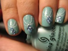 China Glaze For Audrey stamp from Konad M77 nail stamping art