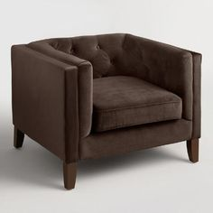 One of my favorite discoveries at WorldMarket.com: Chocolate Brown Velvet Kendall Chair