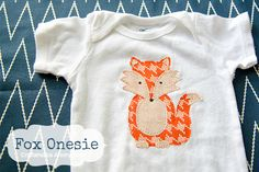Adorable Fox Onesie made with a Silhouette Cameo!
