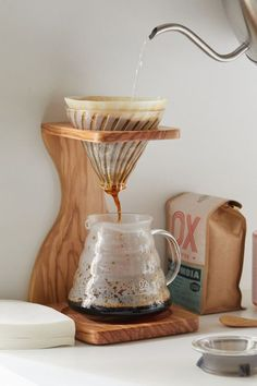 Shop Hario Olive Wood And Glass Pour-Over Coffee Set at Urban Outfitters today. Coffee Shop, Coffee Bar Home, Home Coffee Stations, Coffee Flour, Coffee Cake, Best Coffee, My Coffee, Ninja Coffee, Coffee Pods