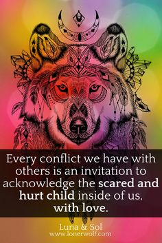 Conflict is the perfect opportunity for inner child healing. Whenever you are triggered, pay attention to what your inner child wants to share with you.