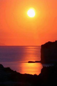 Beautiful sunset in Sidari
