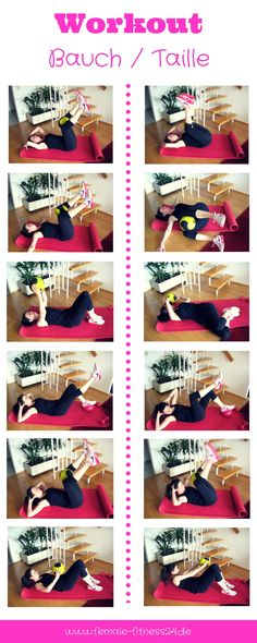 Workout für zu Hause | diese Übungen könnt ihr als Home-Workout durchführen und Bauch, Taille und Rücken trainieren. Hier gehts zu den Übungen --> Viel Spaß :-)