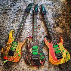 Ibanez Universe 7 String Guitars ..,, used by STEVE VAI & ROB JOHNSON ...... guitar guitarra guitarrista guitare gitar Gitarre gitarren hero God collection legend God legends rare pic pics photos Photo magazine cover covers player players