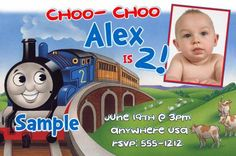 Download now thomas the train birthday invitations ideas free thomas the train birthday invitations digital printable one hour photo by createphotocards4u filmwisefo