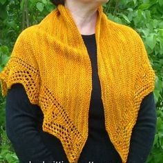 Marigold Lace Shawl | AllFreeKnitting.com