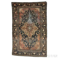 "Kashan ""Mochtasham"" Rug, Central Persia, late 19th/early 20th century,  7 ft. x 4 ft. 5 