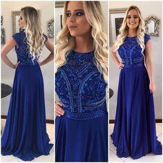 Vestido azul royal para madrinhas
