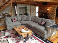 Great room - Arhaus sectional
