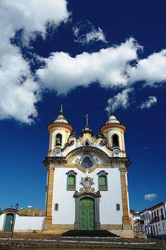 Church in Mariana, Minas Gerais - Brazil