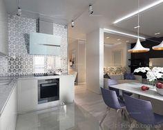 Интерьер Фото 03.08.2016/540531 Дизайн проект для квартиры 65 м2 с небольшим бюджетом от Студии интерьеров FoxLab_interior. Столовая Современная Foxlab Interior