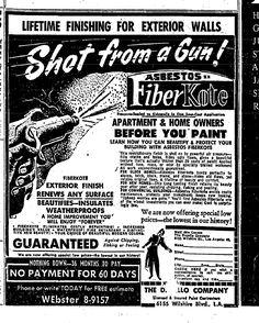 Asbestos Fiberkote Spray Ad