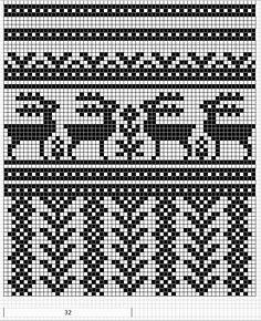 Mustrilaegas: A Kudumine / Knitting colourwork chart - strikking mønster Knitting Charts, Knitting Stitches, Knitting Designs, Knitting Patterns Free, Cross Patterns, Loom Patterns, Stitch Patterns, Fair Isle Chart, Fair Isle Pattern