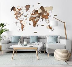 Wall Wooden Map of the World Map Travel Push Pin Map Rustic Home Wood Wall Art Anniversary Gift for Husband Boyfriend Wall Art Decor