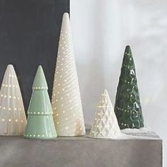 LED Ceramic Trees at Crate and Barrel Canada. Discover unique furniture and decor from across the globe to create a look you love. Ceramic Christmas Decorations, Vintage Ceramic Christmas Tree, Christmas Mantels, Christmas Tree Toppers, Christmas Home, Christmas Crafts, Christmas Ornaments, Christmas Stockings, Christmas Candle