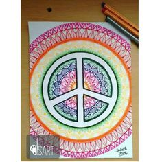 Draw colors mandala
