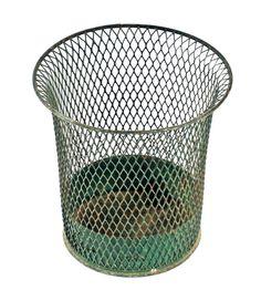 Canco Vintage Waste Basket Green Metal Trash Can Pair Industrial Office  School | Industrial Office, Industrial Waste Baskets And Vintage Office