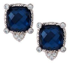 Judith Ripka Sterling Hematite Doublet Stud Earrings