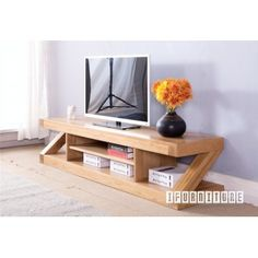 Now $499 (Was $1099 - Save $600) on ZEST Z Shape TV Unit *Solid Oak@ I Furniturte - Bargain Bro