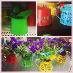 """End of the year pre school teacher gift.. """"Thank you for helping me grow """""""