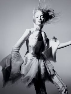 There were and are so many great editorial images that involved Balenciaga, but we'll end on this great shot of Gemma Ward by Nick Knight for Pop Magazine.