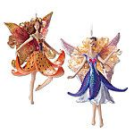Tiger Lily & Arabela Clematis Fairy Ornament Set. Discover a world of enchantment that's always in bloom, shimmering with the jewel-like radiance of butterfly wings and a vibrant rainbow of flowers. This limited-edition fairy ornament set brings the magical world of garden fairies into your home for the holidays. Available only from The Bradford Exchange, the set features two exquisite collectible keepsakes - Tiger Lily and Arabela Clematis - lavished with glitter, simulated gems and genuine…