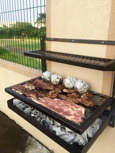 Barbecue Design, Grill Design, Diy Grill, Barbecue Grill, Outdoor Kitchen Design, Interior Design Kitchen, Brick Bbq, Backyard Pool Designs, Bbq Area
