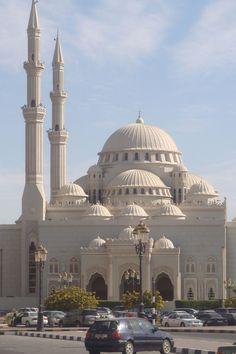 :::: PINTEREST.COM christiancross ::: Al-Noor Mosque in Sharjah City, UAE