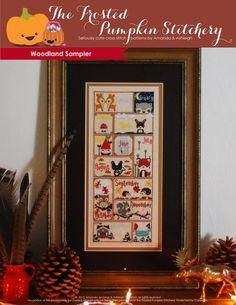 Woodland Sampler PDF Cross Stitch Pattern                           | The Frosted Pumpkin Stitchery