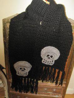 Greatest skull men's scarf  - $57
