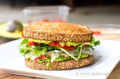 Best Vegan Sandwich EVER! This sandwich is delicious and SO EASY to make!!