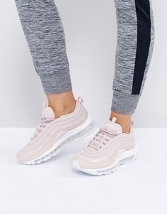 finest selection 9c917 11f20 Nike Air Max 97 Premium Trainers In Pink - Cream. Air