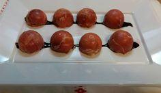 Aperitivo: Bombones de jamón rellenos de gorgonzola, nueces y pasas