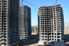 Construction works at Khazar Islands