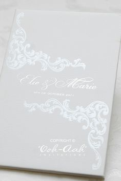 Hard Cover Wedding Invitations Sydney Designed By Ooh Aah Stationery