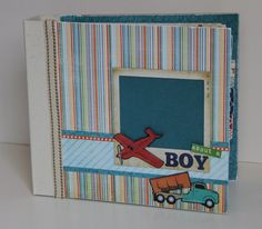 About A Boy 9x9 Premade Scrapbook Album by ArtsyAlbums on Etsy, $65.00