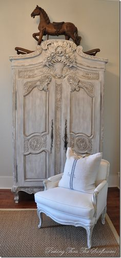 Love this painted armoire!