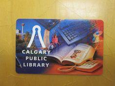 Calgary Public Library Library Cards, Calgary, Card Ideas, Public, Canada, Books, Design, Libros, Book