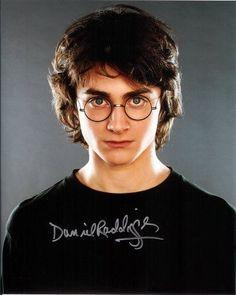 Signed Daniel Radcliffe Harry Potter [I14O95] Sgnd Dnl Rdclff Hrry Pttr