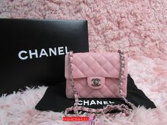 95f9ce70d4311f Auth Vintage CHANEL Pink Caviar 2.55 Square Mini Flap Bag Silver HW Chanel  Pink, Vintage